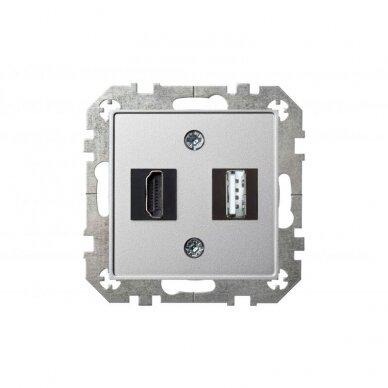 HDMI ir USB lizdai EPSILON be rėmelio 6