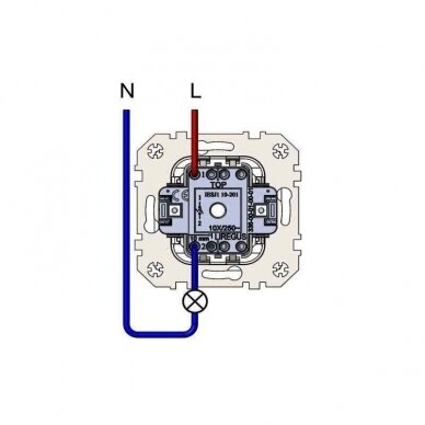 Impulsinis jungiklis 1kl. EPSILON be rėmelio 4