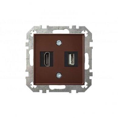HDMI ir USB lizdai EPSILON be rėmelio 5