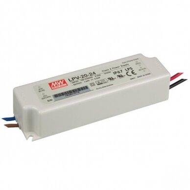 Maitinimo šaltinis LED LPV 230V/24DC IP67