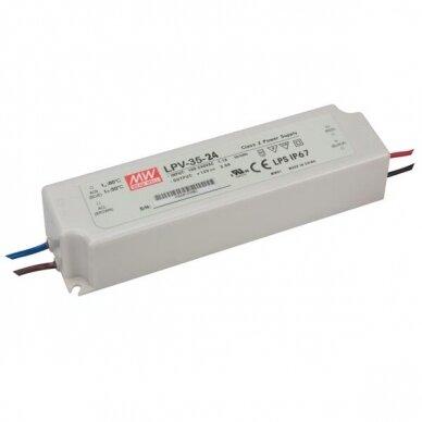 Maitinimo šaltinis LED LPV 230V/24DC IP67 3