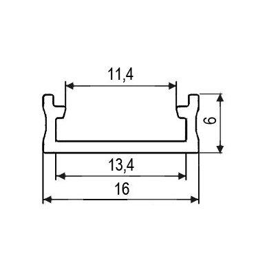 Profilis LED juostoms SURFACE EKO virštinkinis 2
