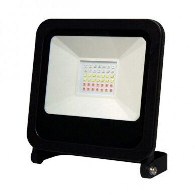 Prožektorius LED PHOTON RGB + BLUETOOH juodas IP65