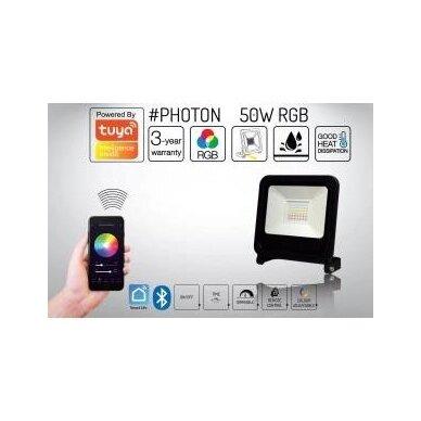 Prožektorius LED PHOTON RGB + BLUETOOH juodas IP65 2