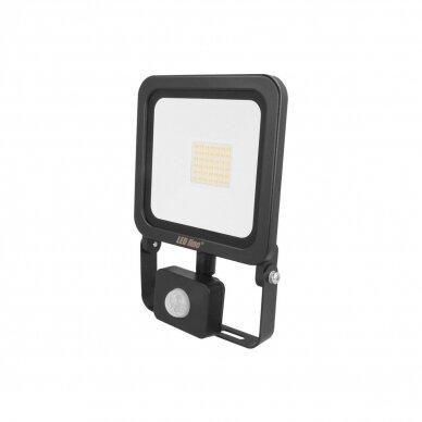 Prožektorius LED su judesio davikliu PHOTON juodas IP65
