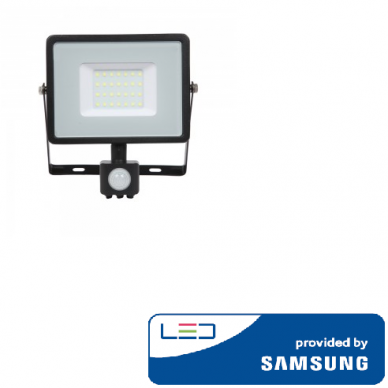 Prožektorius SAMSUNG LED su judesio davikliu juodas IP65