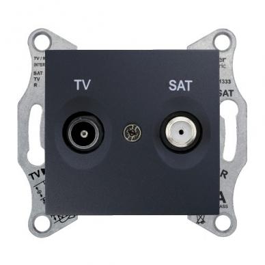 Antenos lizdas SEDNA TV/SAT be rėmelio, galinis 6